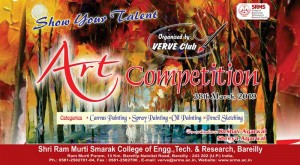 SRMSCET&R is going to organize an Art Competition on 28th March, 2019