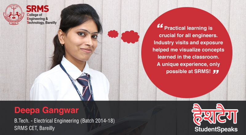 Deepa Gangwar tells us why SRMS is not just her learning ground but also her comfort zone