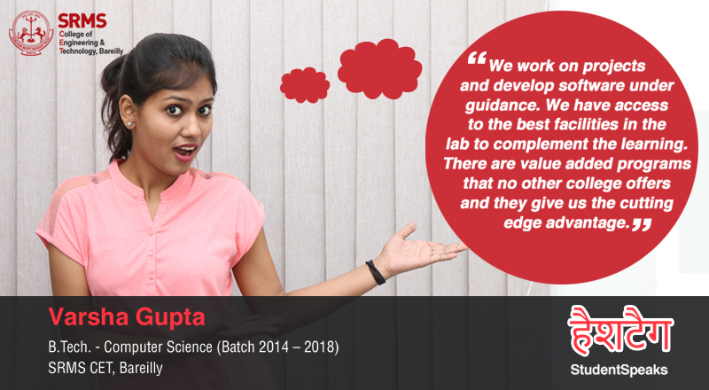 Varsha Gupta talks of different avenues at SRMS that have helped to develop her overall personality