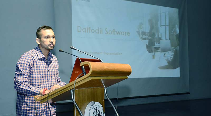 SRMS hosts Pool Campus Recruitment Drive with the company Daffodil Software Limited