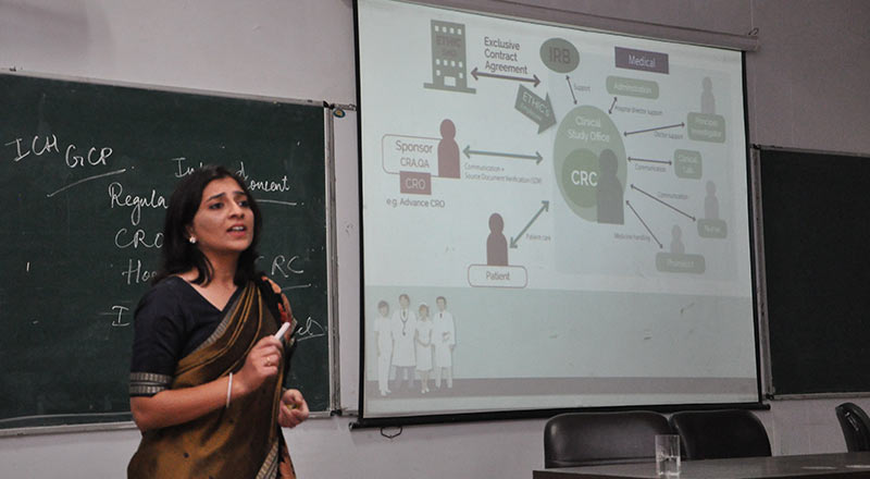 Guest Lecture on 'Clinical Trials & Role of Pharmacy Graduates'