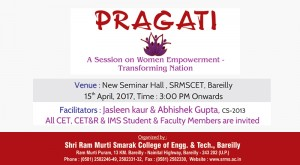 Pragati : A Session on Women Empowerment – Transforming Nation