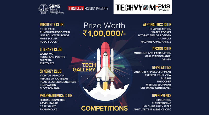 SRMS-CET-Tyro-Club-Proudly-Presents-Techvym---2k18