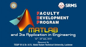 """SRMS CET&R Faculty Development Programme ''Matlab and its Application in Engineering"""" @ CS Seminar Hall Department of Electronics & Communication Engineering"""