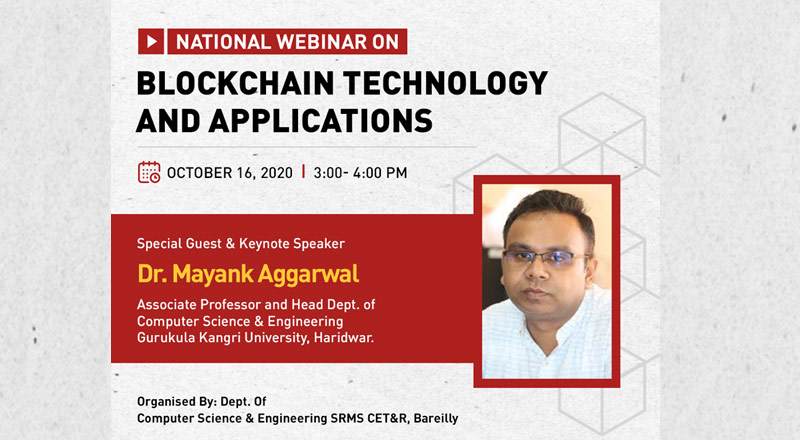 "National Webinar On ""Blockchain Technology And Applications"""