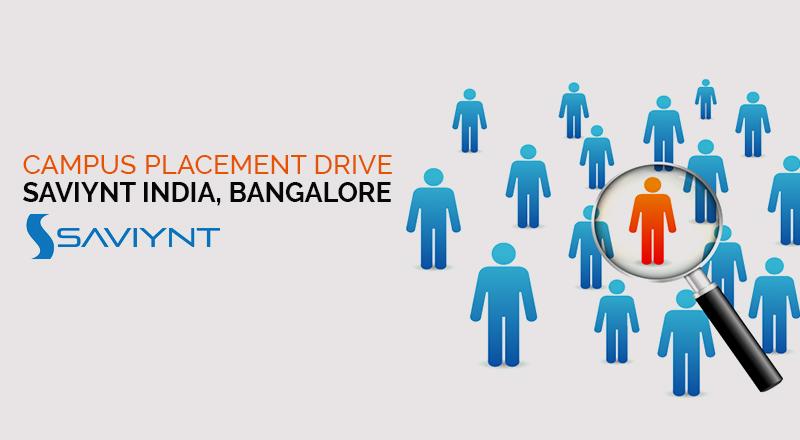 Campus Placement Drive of  Saviynt India, Bangalore