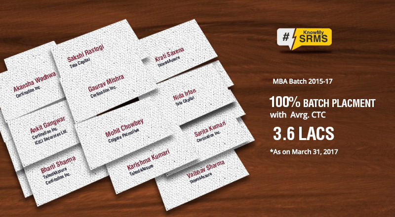SRMS CET, Bareilly completes MBA Placements
