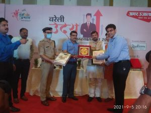 SRMS-Riddhima-received-Bareilly-Uday-Excellence-Award-2021